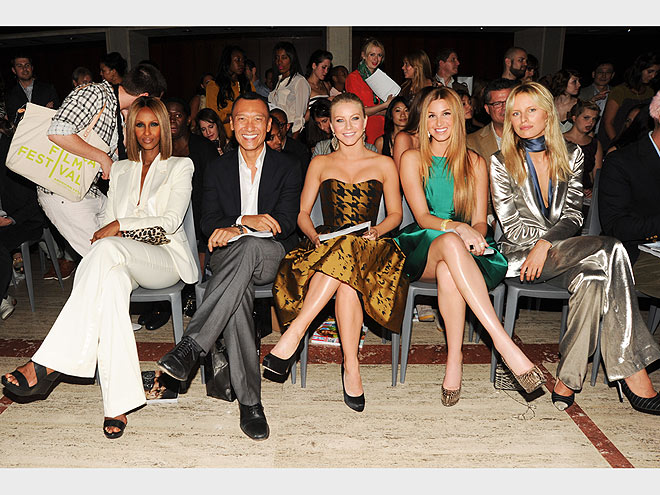 ELLE FASHION/NEXT FRONT ROW photo | Iman, Julianne Hough, Karolina Kurkova, Whitney Port