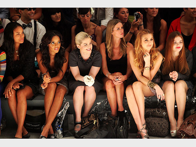 CHARLOTTE RONSON FRONT ROW photo | Joy Bryant, Kelly Osbourne, Nicky Hilton, Whitney Port