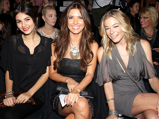 BADGLEY MISCHKA FRONT ROW photo | LeAnn Rimes, Audrina Patridge, LeAnn Rimes