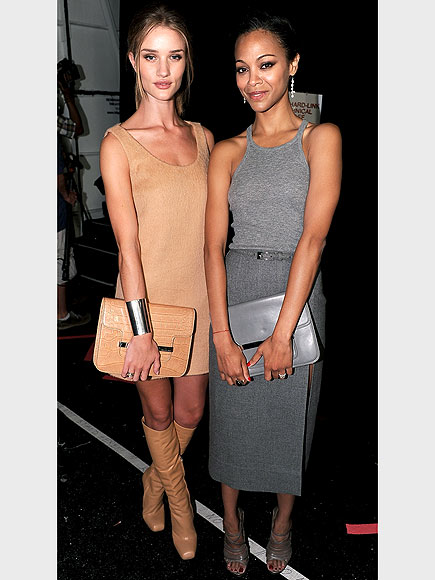 ROSIE HUNTINGTON-WHITELEY & ZOË SALDANA photo | Rosie Huntington-Whiteley, Zoe Saldana