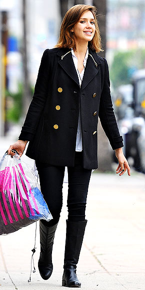 PEACOAT photo | Jessica Alba