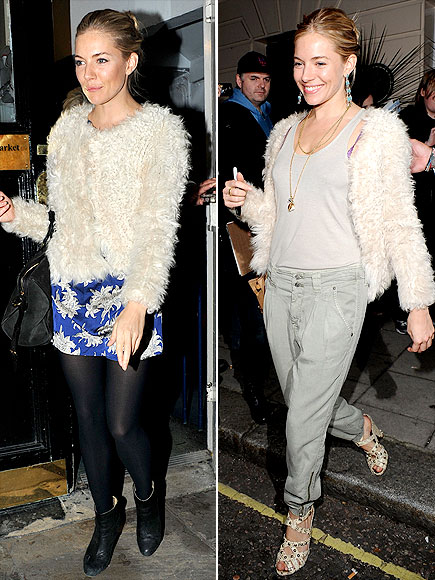 SIENNA'S CARDIGAN photo | Sienna Miller