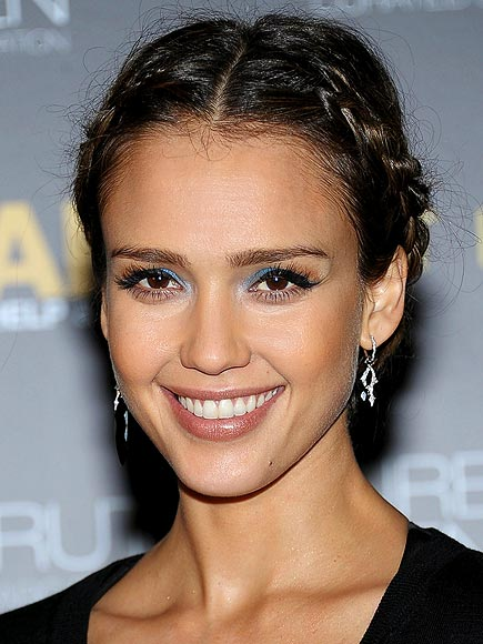 BRAIDED UPDOS photo | Jessica Alba