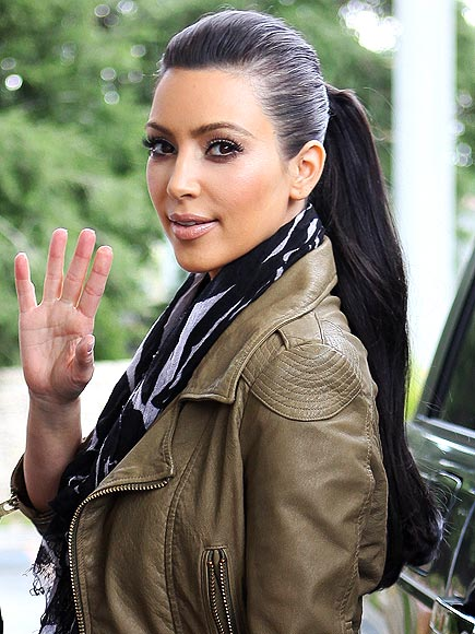 SLEEK PONYTAIL photo | Kim Kardashian