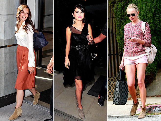 SUEDE BOOTIES photo | Kate Bosworth, Katie Holmes, Selena Gomez