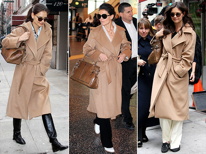MAX MARA COAT AND BAG photo | Katie Holmes