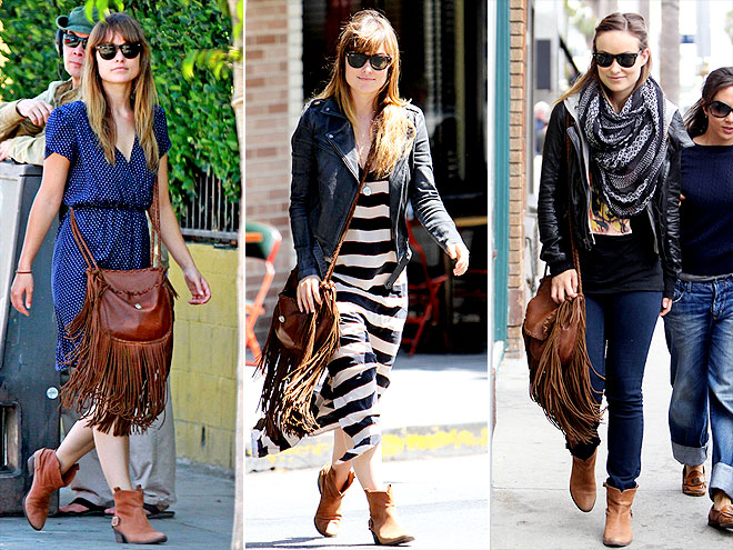 RALPH LAUREN COLLECTION BAG & JOIE BOOTIES photo | Olivia Wilde