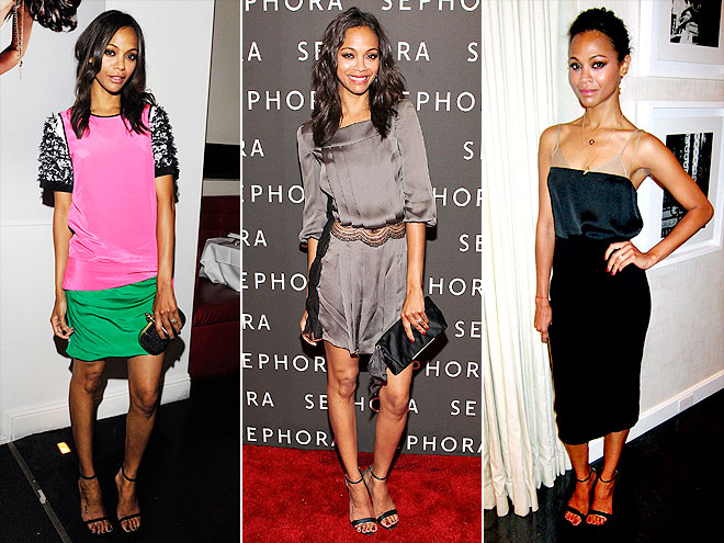 SERGIO ROSSI SANDALS  photo | Zoe Saldana