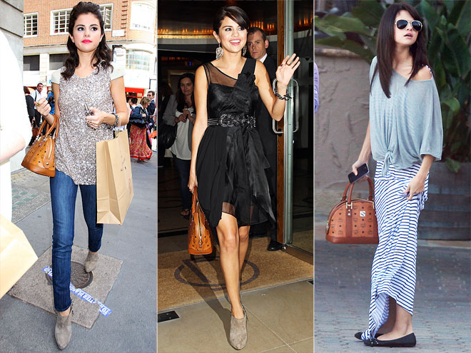 MCM HERITAGE PURSE photo | Selena Gomez
