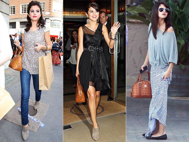MCM HERITAGE PURSE photo | Selena Gomez