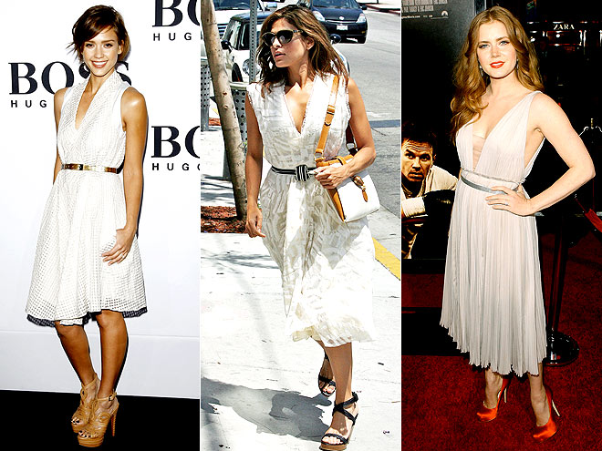 BELTED FROCKS photo | Amy Adams, Eva Mendes, Jessica Alba