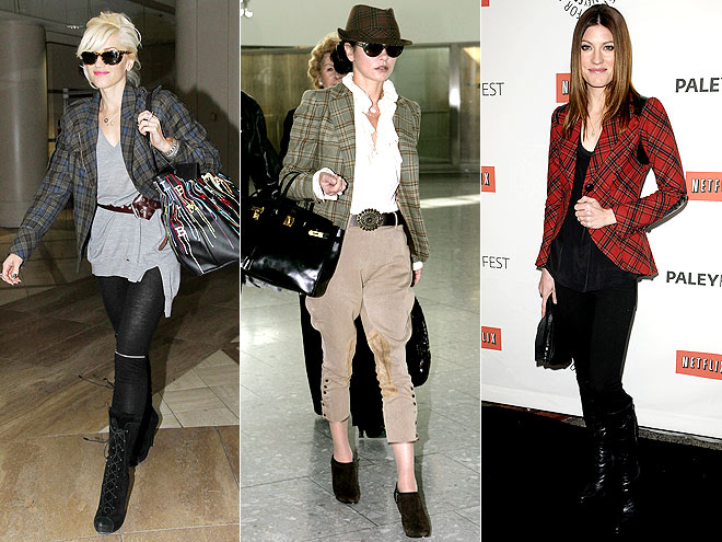 PLAID BLAZERS photo | Catherine Zeta-Jones, Gwen Stefani, Jennifer Carpenter