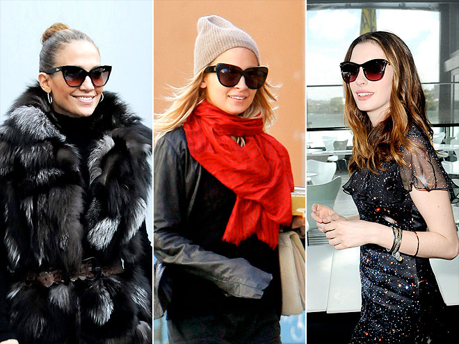 CAT-EYE SUNGLASSES photo | Anne Hathaway, Jennifer Lopez, Nicole Richie