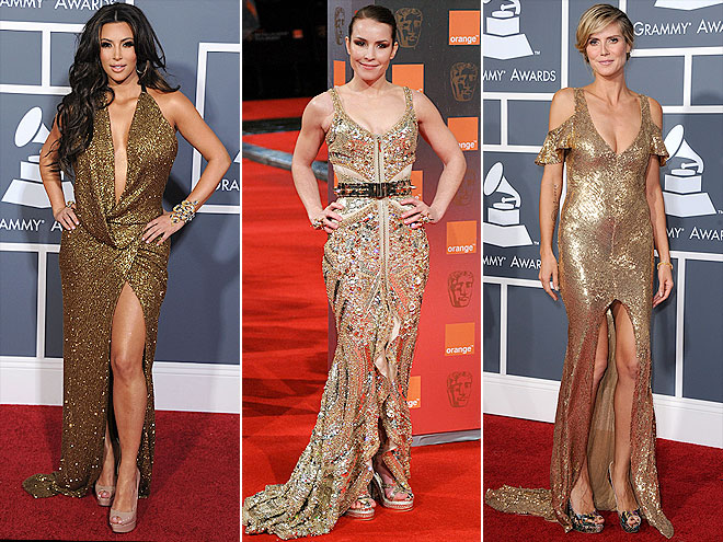 GOLD GOWNS photo | Heidi Klum, Kim Kardashian, Noomi Rapace
