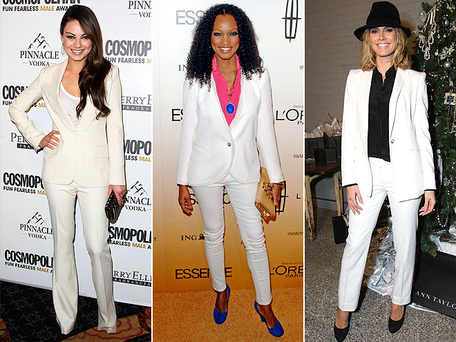 WHITE SUITS photo | Garcelle Beauvais-Nilon, Heidi Klum, Mila Kunis