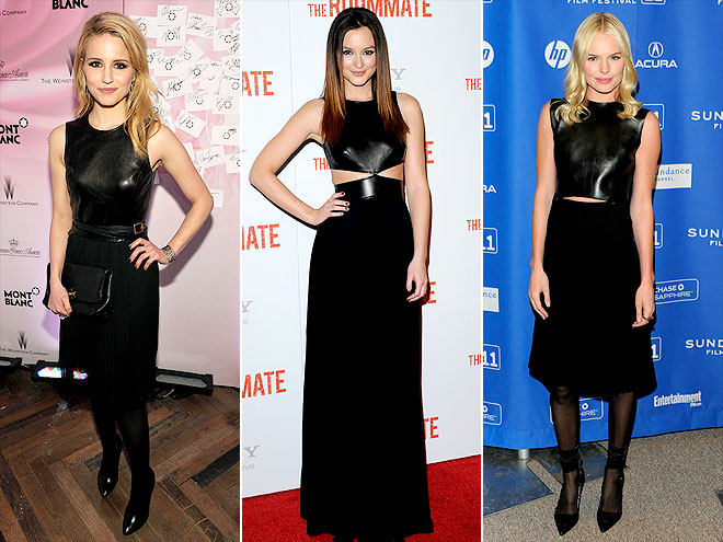 LEATHER-BODICE DRESSES photo | Dianna Agron, Kate Bosworth, Leighton Meester