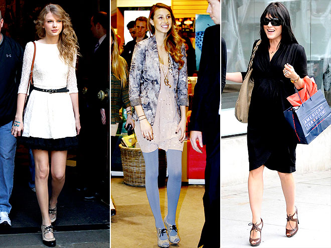 LACE-UP OXFORD HEELS photo | Selma Blair, Taylor Swift, Whitney Port