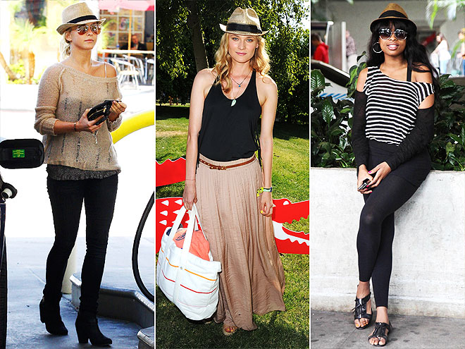 STRAW FEDORAS photo | Diane Kruger, Jennifer Hudson, Julianne Hough