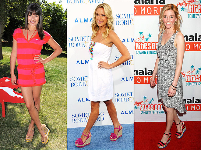 COLORFUL WEDGE HEELS photo | Elizabeth Banks, Kristin Cavallari, Lea Michele