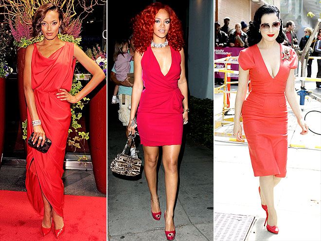 HEAD-TO-TOE RED photo | Dita Von Teese, Rihanna, Selita Ebanks