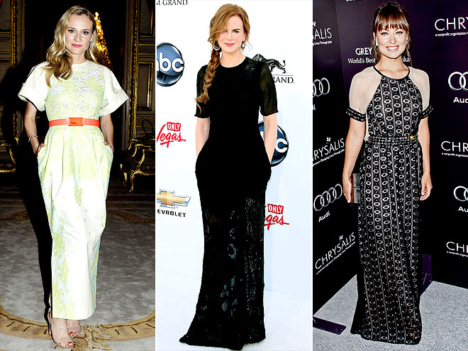 SHORT-SLEEVED GOWNS photo | Diane Kruger, Nicole Kidman, Olivia Wilde