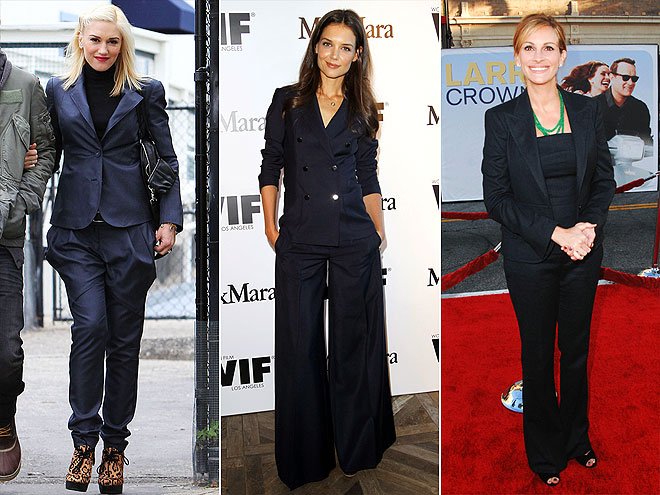 NAVY SUITS photo | Gwen Stefani, Julia Roberts, Katie Holmes