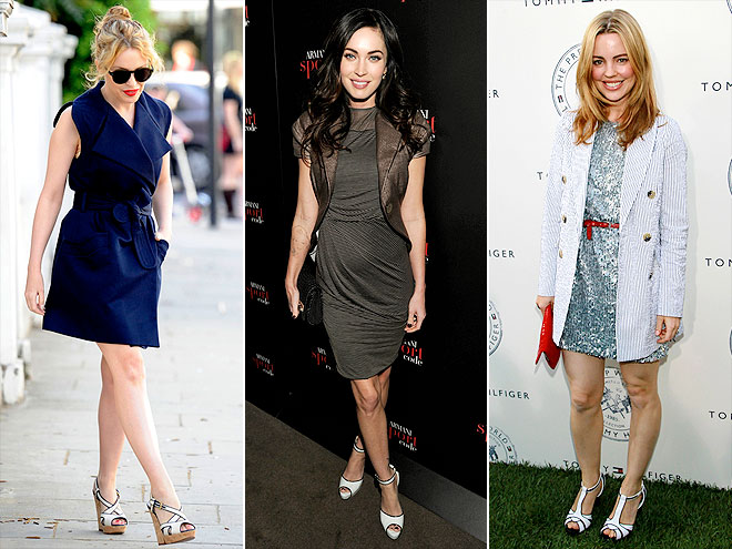 WHITE PIPED HEELS photo | Kylie Minogue, Megan Fox, Melissa George