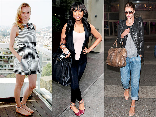 CHAIN-STRAP FLATS photo | Diane Kruger, Jennifer Hudson, Rosie Huntington-Whiteley
