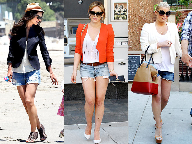 BLAZERS AND JEAN SHORTS photo | Hilary Duff, Jessica Simpson, Katie Holmes