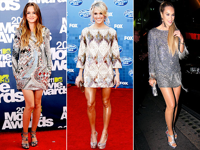 METALLIC LONG-SLEEVE MINIS photo | Carrie Underwood, Leighton Meester