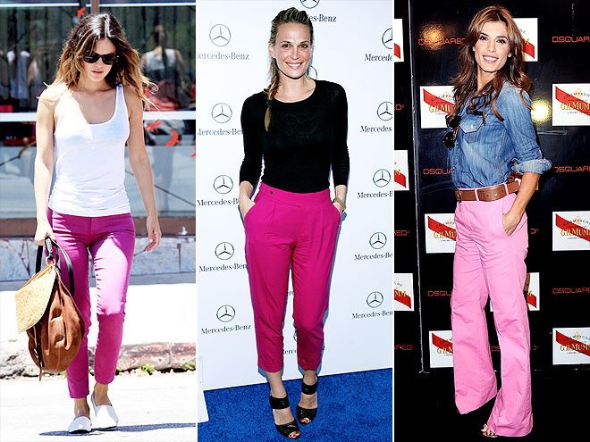 HOT PINK PANTS photo | Elisabetta Canalis, Molly Sims, Rachel Bilson