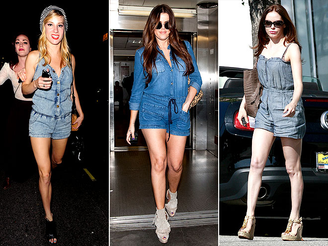 DENIM ROMPERS photo | Heather Morris, Khloe Kardashian, Rose McGowan