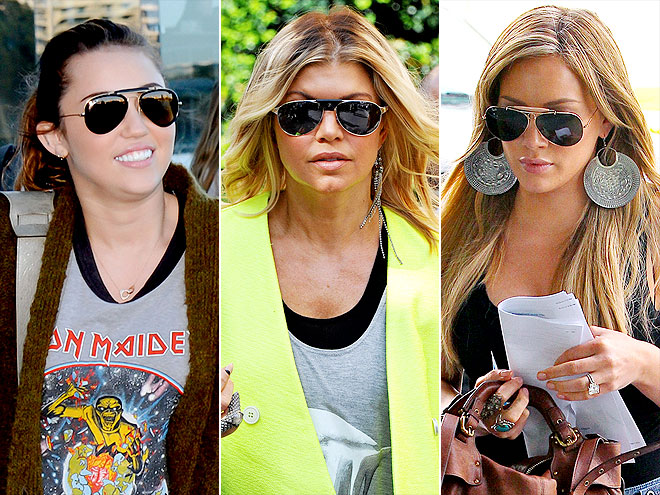 EMBELLISHED AVIATORS photo | Fergie, Hilary Duff, Miley Cyrus