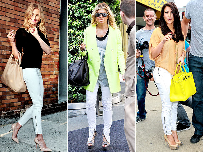 WHITE ANKLE-ZIP JEANS photo | Cameron Diaz, Fergie, Kim Kardashian