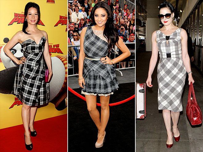 PLAID DRESSES photo | Dita Von Teese, Lucy Liu