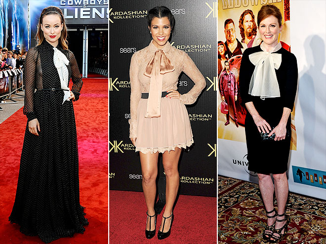 BIG BOWS photo | Julianne Moore, Kourtney Kardashian, Olivia Wilde