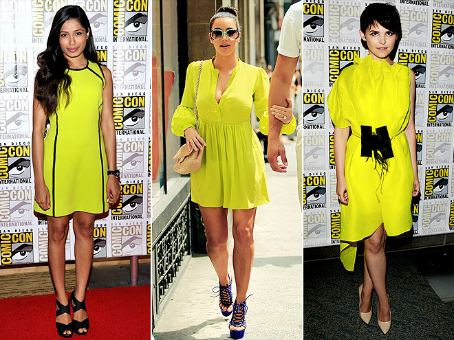 NEON YELLOW photo | Freida Pinto, Ginnifer Goodwin, Kim Kardashian