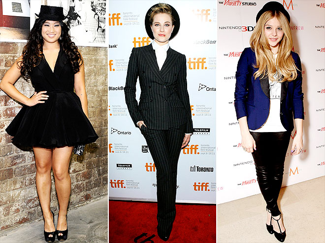 MINIATURE FEDORAS photo | Chloe Moretz, Evan Rachel Wood, Jenna Ushkowitz