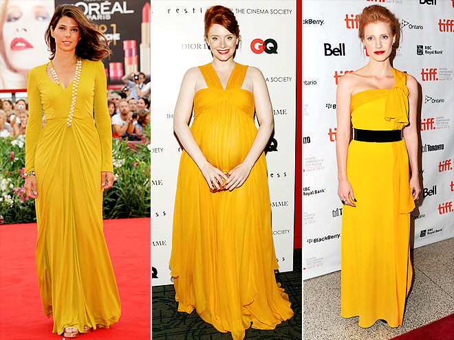 MARIGOLD GOWNS photo | Bryce Dallas Howard, Jessica Chastain, Marisa Tomei