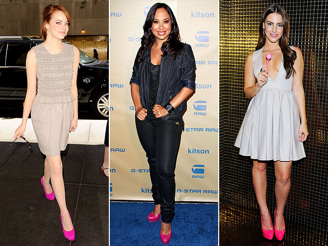 HOT-PINK PUMPS photo | Cheryl Burke, Emma Stone, Jessica Lowndes