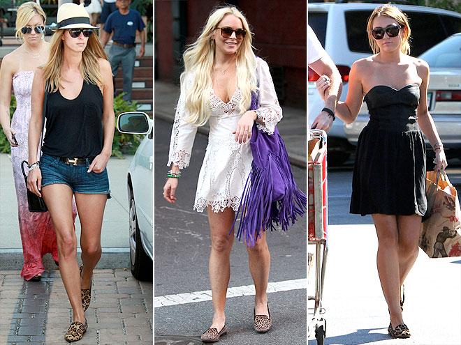 LEOPARD LOAFERS photo | Lindsay Lohan, Miley Cyrus, Nicky Hilton