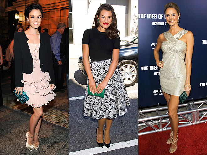EMERALD CLUTCHES photo | Lea Michele, Rachel Bilson, Stacy Keibler