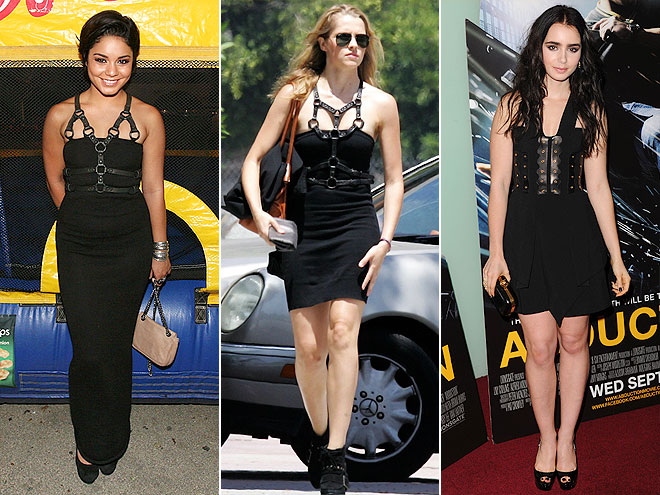 BONDAGE-INSPIRED BODICES photo | Lily Collins, Teresa Palmer, Vanessa Hudgens