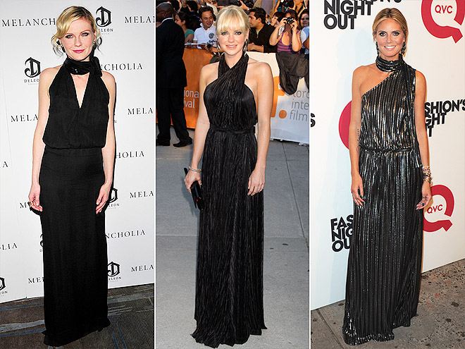 MOCK-TURTLENECK GOWNS photo | Anna Faris, Heidi Klum, Kirsten Dunst