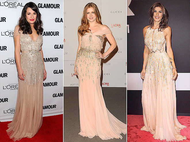 SPARKLING BLUSH GOWNS photo | Amy Adams, Elisabetta Canalis, Lea Michele
