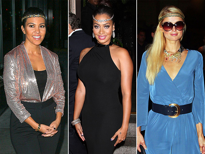 FRONT-OF-HEADBANDS  photo | Kourtney Kardashian, La La Anthony, Paris Hilton