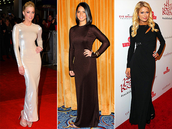 LONG-SLEEVE GOWNS photo | Amber Heard, Olivia Munn, Paris Hilton