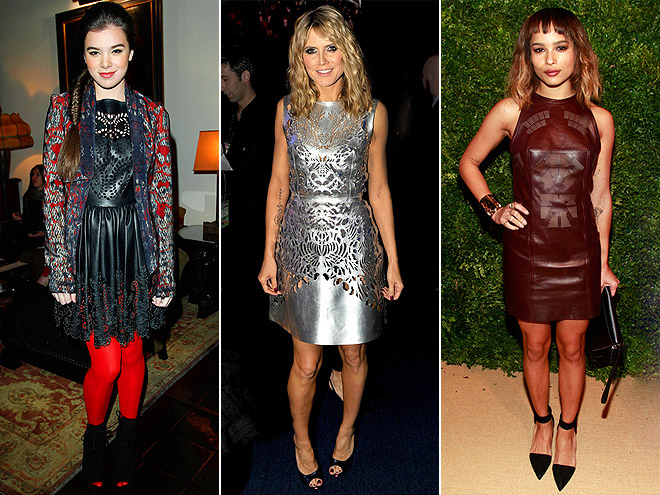 PERFORATED LEATHER DRESSES photo | Hailee Steinfeld, Heidi Klum, Zoe Kravitz