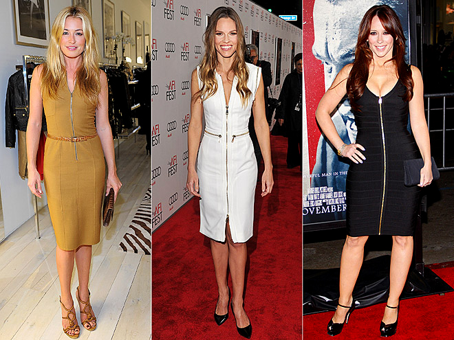 ZIP-FRONT FROCKS photo | Cat Deeley, Hilary Swank, Jennifer Love Hewitt