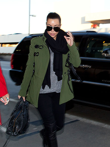 KIM KARDASHIAN'S COAT photo | Kim Kardashian